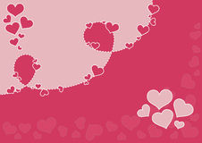 Valentine's Background. Vector valentine's day background Royalty Free Stock Image