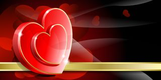 Valentine's background. Abstract red background to the Valentine's day Royalty Free Stock Photos