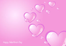 Valentine's background 2. A valentine's background with many glossy hearts on a faded pink background.Useful as postcard or greeting card. EPS file available Stock Photography