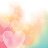 Valentine's Background. An illustration of a blended valentine background with transparent hearts Royalty Free Stock Photos