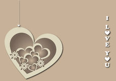 Valentine's background 3. A valentine's background with an hanging heart.Useful as postcard or greeting card. EPS file available Stock Image
