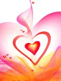 Valentine's background. Hearts like apple, symbolism Vector Illustration