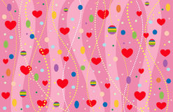 The Valentine's background. Vector-Illustration Stock Image