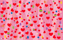 The Valentine's background. Vector-Illustration Royalty Free Stock Photos