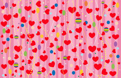 The Valentine's background. Vector-Illustration Stock Photography