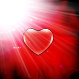 Valentine's background in the abyss Stock Photography