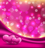 Valentines background with beautiful hearts Stock Image