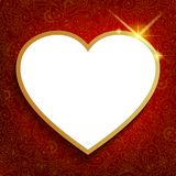Valentine's background with big red heart. Stock Photography