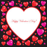 Valentine's background with big white heart Royalty Free Stock Photo