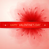 Valentine's background with flower Royalty Free Stock Images