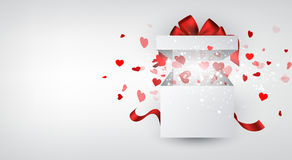 Valentine's background with gift Stock Photo