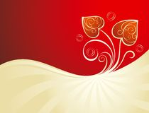 Valentine's background with heart. Decorative Valentine's background with hearts Stock Image