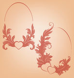 Valentine's background  heart  floral motif Stock Image
