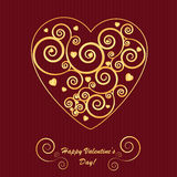 Valentine's background with heart Royalty Free Stock Photo