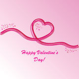 Valentine's background with heart. S and stars on pink phone Royalty Free Stock Photos