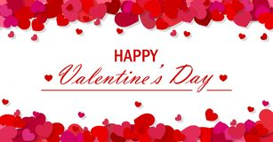 Valentine`s day vector background Stock Image