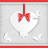 Valentine`s background with heart. Stock Photos