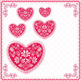 Valentine`s background with heart. Royalty Free Stock Photography