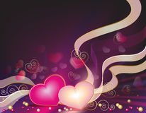 Valentine's background with hearts Stock Photo