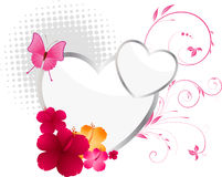 Valentine\\\'s background with hearts. Flowers and floral elements Royalty Free Stock Images