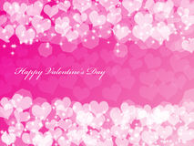 Valentine's background with hearts. Abstract Valentine's day background with many hearts and stars Royalty Free Stock Photography