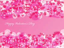 Valentine's background with hearts. Abstract Valentine's day background with hearts and stars Stock Photography