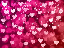 Valentine's background with hearts. Abstract Valentine's day background with hearts and stars Stock Images