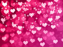 Valentine's background with hearts. Abstract Valentine's day background with hearts and stars Royalty Free Stock Photography