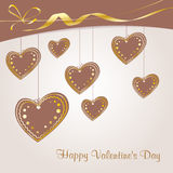 Valentine`s background with hearts Royalty Free Stock Image