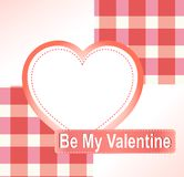 Valentine's background with hearts place for text Royalty Free Stock Images