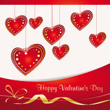 Valentine`s background with hearts Stock Photos