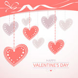 Valentine`s background with hearts Stock Photo