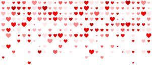 Valentine's background with hearts Stock Images