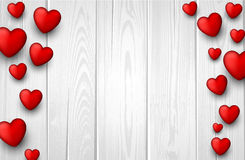 Valentine's background with hearts Royalty Free Stock Image