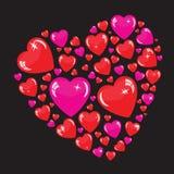 Valentine's background with many hearts Stock Photos