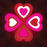 Valentine's background with ornament Stock Image