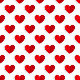 Valentine's background. Paper red hearts. Royalty Free Stock Image