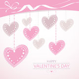 Valentine's background with pink hearts Royalty Free Stock Image
