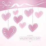 Valentine's background with pink hearts Royalty Free Stock Photography