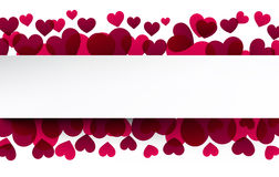 Valentine's background with pink hearts. Royalty Free Stock Photo