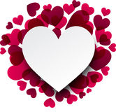 Valentine's background with pink hearts. Royalty Free Stock Photos