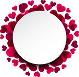 Valentine's background with pink hearts. Royalty Free Stock Image