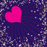 Valentine's background with rays Royalty Free Stock Photography
