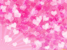 Valentine's background with rays Royalty Free Stock Image