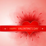 Valentine's background with red heart and flower Stock Image