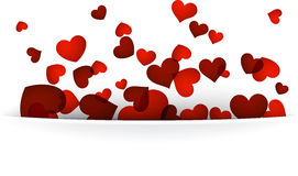 Valentine's background with red hearts. Royalty Free Stock Image