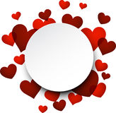 Valentine's background with red hearts. Stock Photo