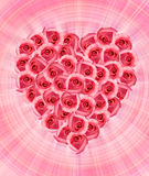 Valentine's background with roses Stock Images