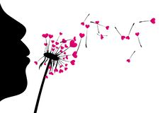Free Valentine`s Background With Love Dandelion. Stock Images - 125580904