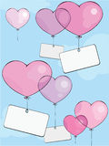 Valentine's balloons Stock Photos
